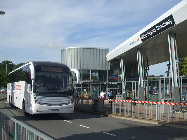 DSCF4911 Bruce Coaches FN63 PWK (National Express contractor) at Milton Keynes - 1 Sep 2016