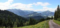 HFF - Panoramablick auf die Berge des Bregenzerwaldes