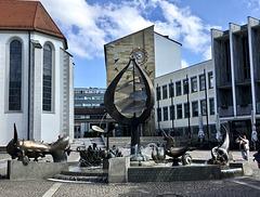 Der Buchhorn-Brunnen in Friedrichshafen