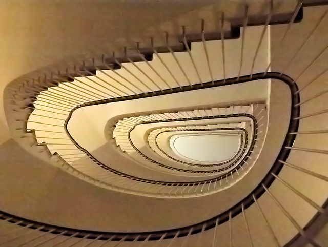 Neulich im Treppenhaus