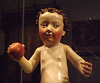 Detail of the Christ Child with Apple in the Metropolitan Museum of Art, January 2013