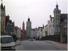 Vilsbiburg - Vilsbrücke und Stadtplatz