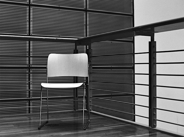 white chair in the corner IV