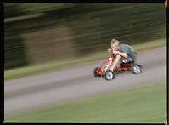 full speed downhill