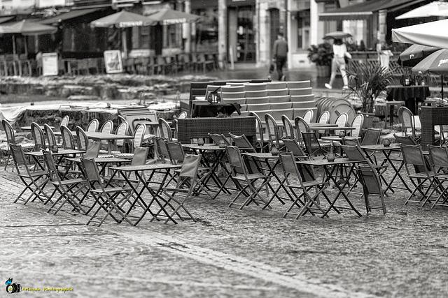 Rouen sous la pluie