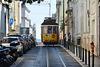 Lisbon 2018 – Eléctrico 577 on line 28 in the Rua António Maria Cardoso