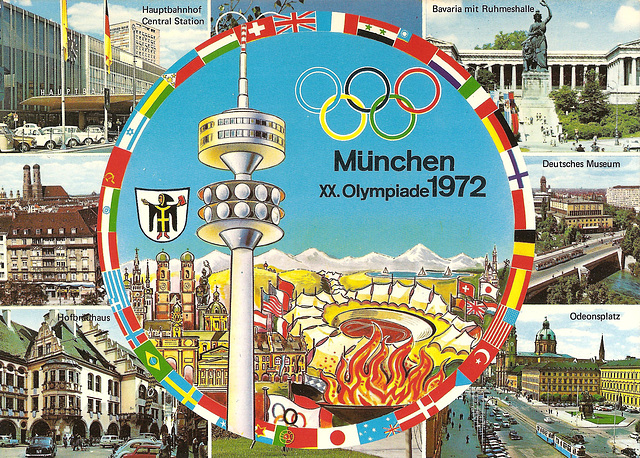 Munich / München (D). 1972. (Carte postale scannée).