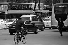 walking cycling driving