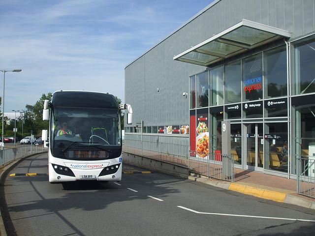 DSCF4916 Parks of Hamilton LSK 819 (National Express contractor) at Milton Keynes - 1 Sep 2016