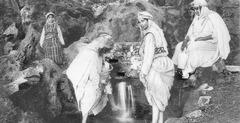 La fontaine  Algéroise   : zoudj ayoun