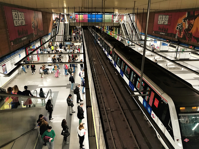 Moncloa metro station, Madrid