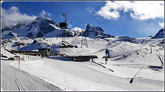 Zermatt : Breithorn e gli impianti che portano lassù: sul Piccolo Cervino svizzero