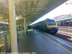 FGW Intercity 125 in Cardiff Central Station, Edited Version, Cardiff, Glamorgan, Wales (UK), 2015