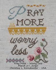 Pray More-Worry Less - Mar 27, 2020