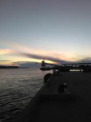 Coucher de port / Sleepy port with stimulating colours.....