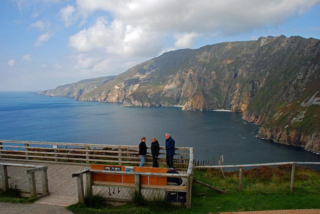 Der Zaun in Slieve League, Co. Donegal, Irland