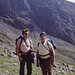 Steve and Jim at Hollow Stones with Scafell behind Lake District 4th July 1991