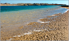 Sharm el Sheikh : Ras Mohammed - ' The enchanted lake' : bassa marea