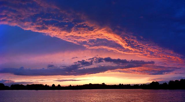 Great sunset(1) at Klocksdorf / Röggelinsee