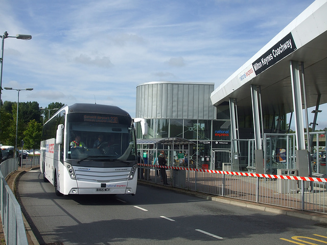 DSCF4922 Harry Shaw Travel BX65 WCV (National Express contractor) at Milton Keynes - 1 Sep 2016