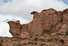 Bolivia, Catal River Valley, Unusual Rocks at the Edge of Canyon
