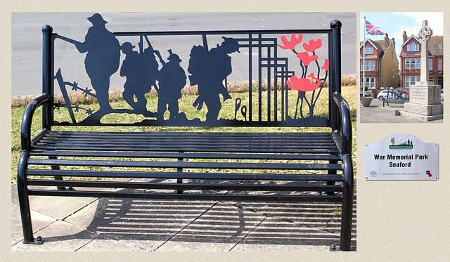War Memorial bench Seaford 16 5 2020