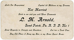 Stick to Me and You Will Wear Diamonds, L. M. Arnold, Sand Patch, Pennsylvania