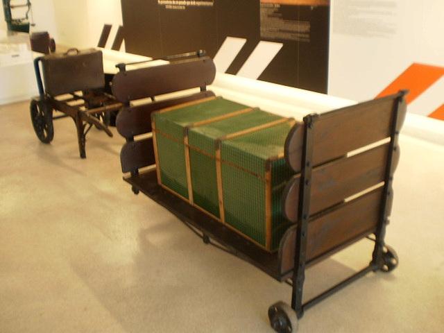 Luggage carts.