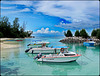 LA DIGUE, SEYCHELLES - il porticciolo dell'isola