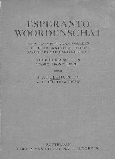 Builthuis, Woordenschat 1931