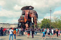 île de Nantes, les machines, l'éléphant sort tous les jours