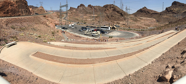 Parking Area For Mike O'Callaghan - Pat Tillman Memorial Bridge (0860)