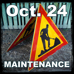 24th OCTOBER 2018 = maintenance on Ipernity