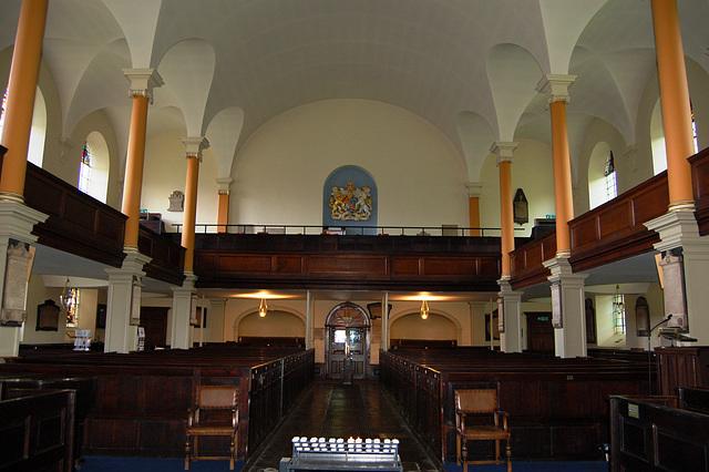 West Gallery, St Paul's Church, St Paul's Square, Birmingham, West Midlands