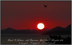 Sundown over the Elaphite' islands - Croatia.