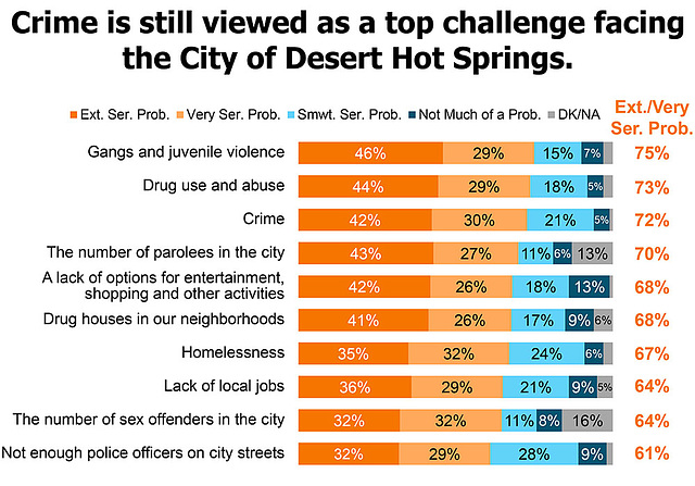 Crime is still viewed as a top challenge facing the City of DHS