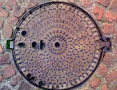 Abwasser-Klappdeckel in Straßburg