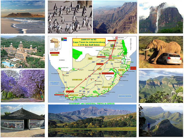 2000 Another Fascinating Trip of 7 378 km Through South Africa