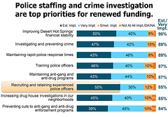 Police staffing and crime investigation are top priorities for renewed funding