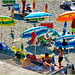 Genova : Ombrelloni colorati e sfumati