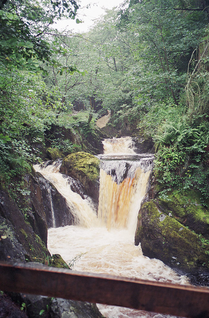 Pecca Falls on the River Twiss. (August 1993, scan)