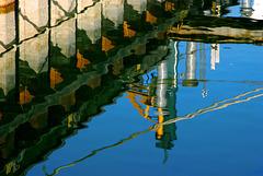 Im Hafenbecken von Seebruck