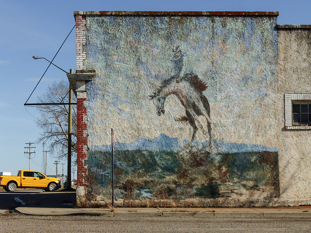 Mural in Blackie, Alberta
