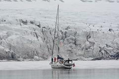 Svalbard, Van Mijenfjorden, Coastal Ice and the Glacier