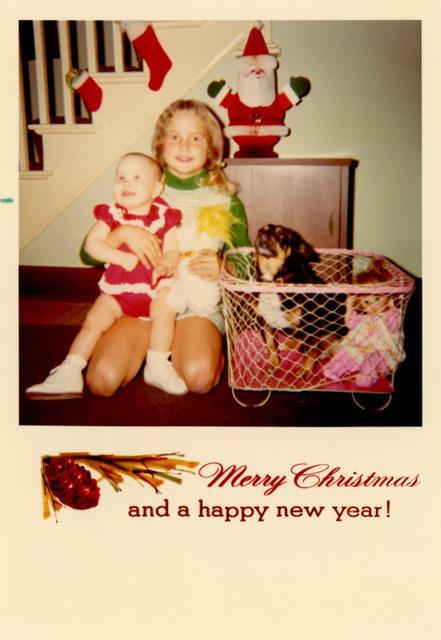Kiddie and Dog Christmas Card, 1971