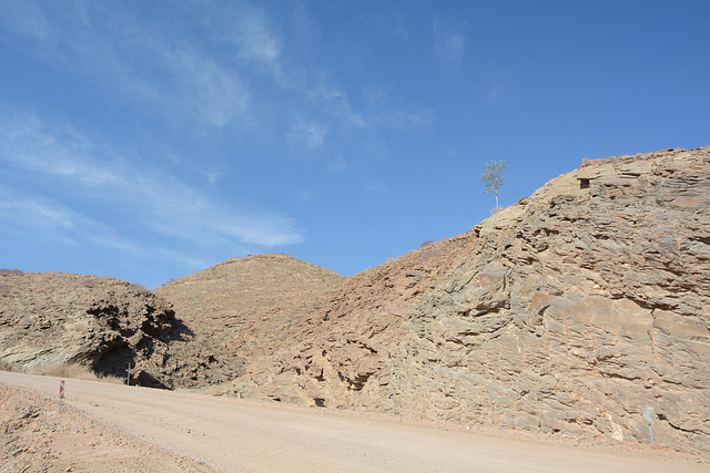 Namibia, A Dirt Road through a Valley of a Thousand Hills