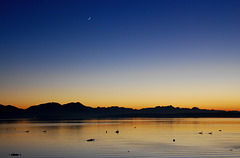 Mond über der Abendstille