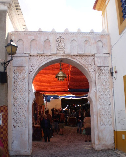 Gate of the outdoor market.
