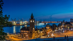 Blue Hour at the Port - Hamburg Ferry Terminal (225°)