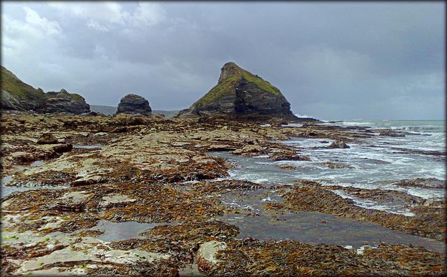 Crane Islands from Basset Cove, Cornwall